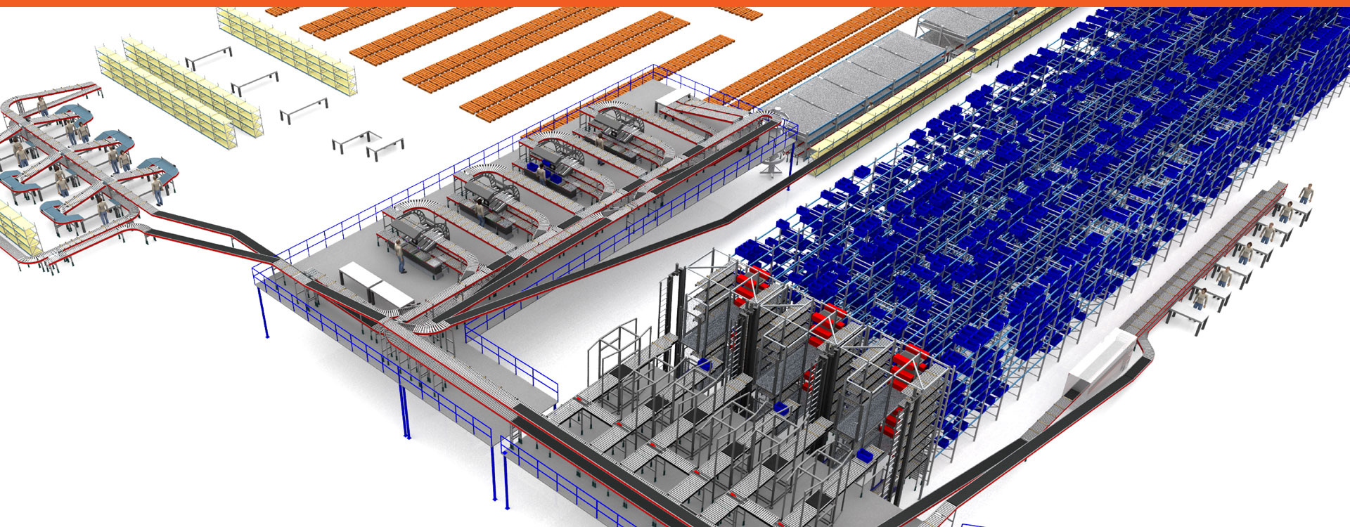 3D visualization automated logistic system Inther Group